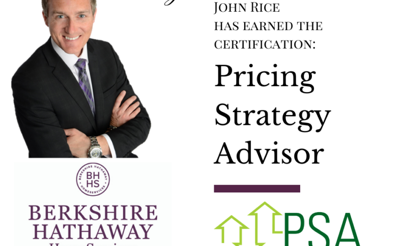 John Rice Earns PSA Designation