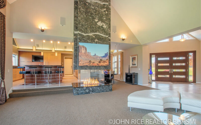 For Sale: 10 Acre Luxury Estate with Pole Barn, Theater Room, Gym, and more