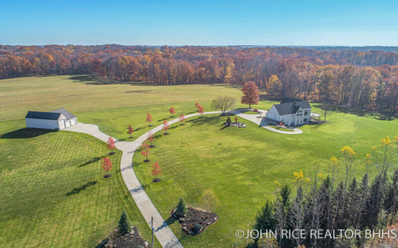 For Sale: 10 Acre Luxury Estate with HUGE Barn, Office, Gym, and more